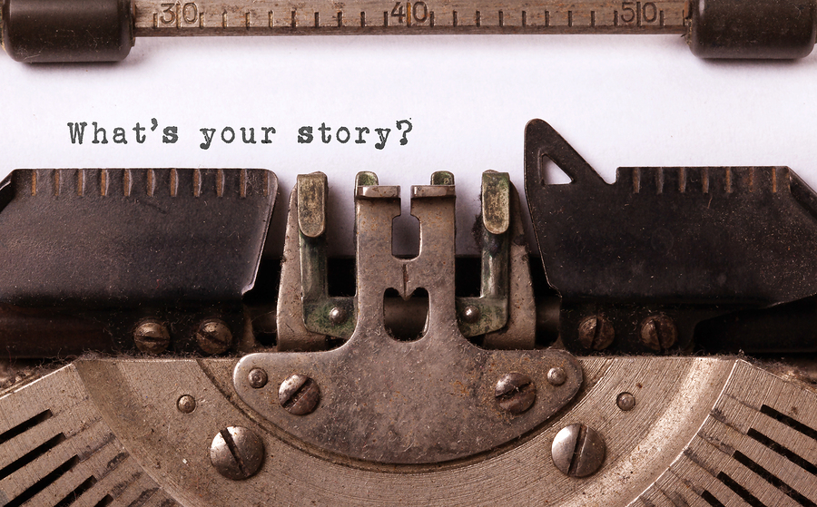 Vintage inscription made by old typewriter what's your story?