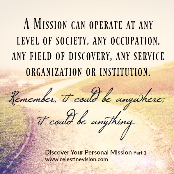 Personal Mission 1