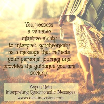 Interpreting Synchronistic Messages