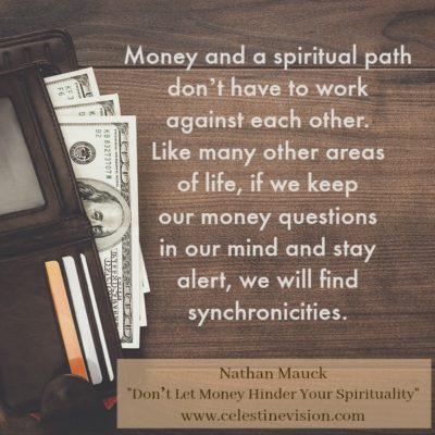 Don't Let Money Hinder Your Spirituality