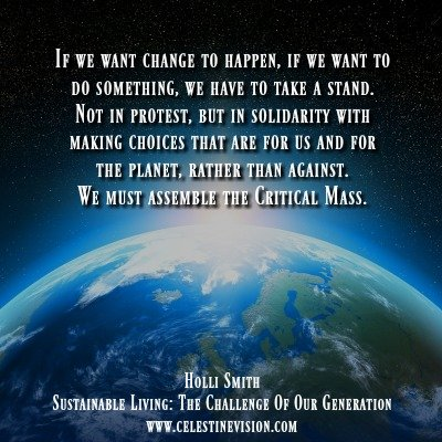 Sustainable Living: The Challenge of Our Generation