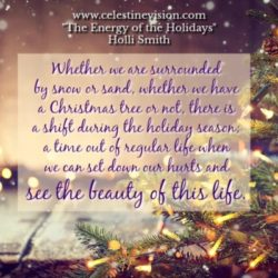 The Energy of the Holidays